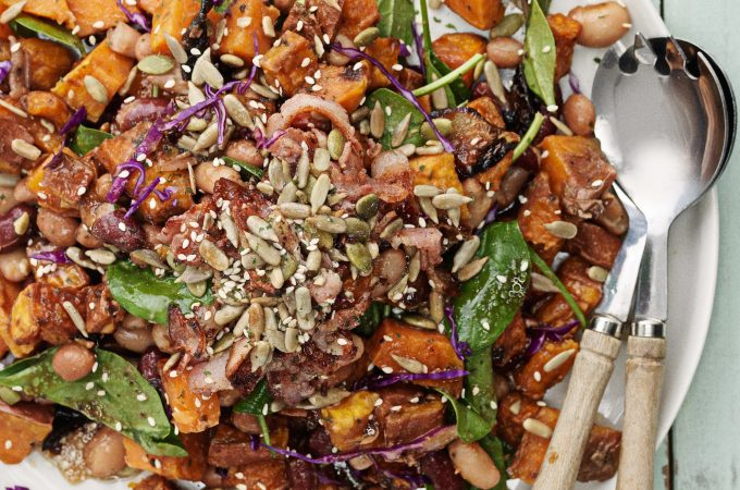 Kumara and Mixed Bean Salad - www.jayandsarah.nz
