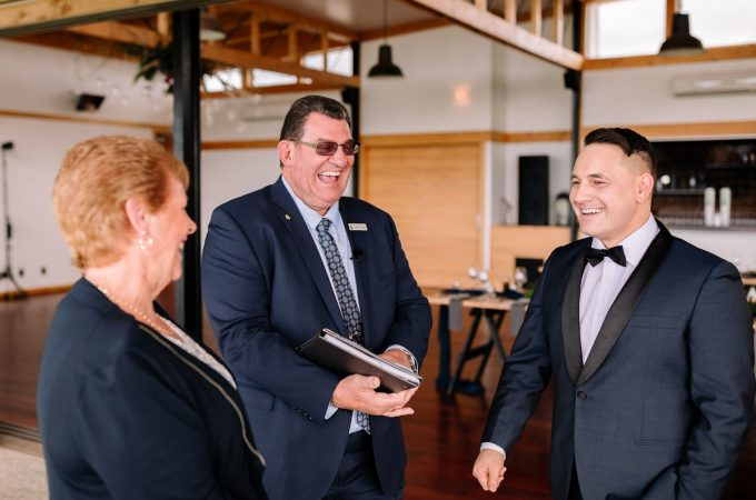 wedding celebrant john O'Leary - www.jayandsarah.nz