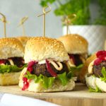 Chilli Mayo and Black Bean Vegetarian Mini Sliders - www.jayandsarah.nz