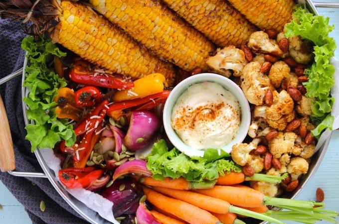 Grilled Mixed Veggie BBQ Platter - www.jayandsarah.nz